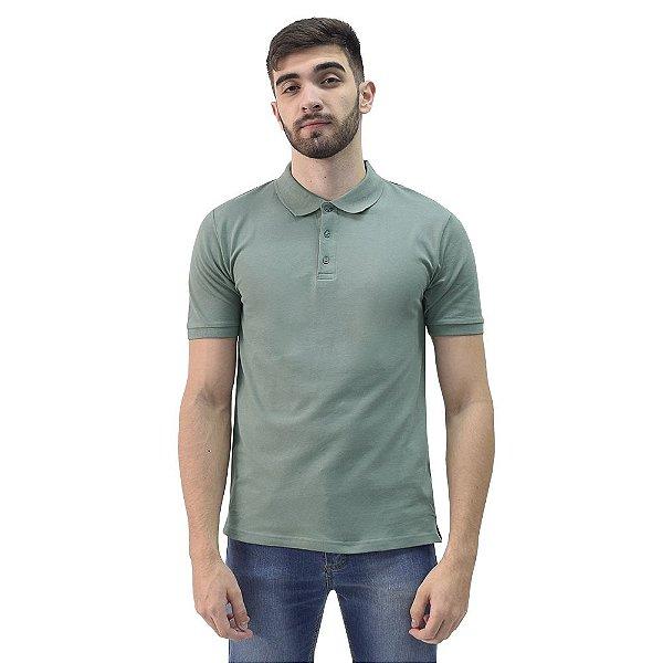 Camiseta Polo Confort Básica - Militar - Yacht Master