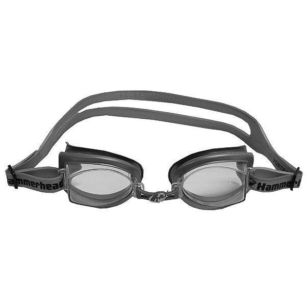 Óculos para Natação Vortex 3.0 - Cinza  e Lentes Transparentes- Hammerhead