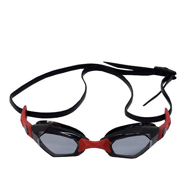 Óculos para Natação Solaris - Vermelho e Preto - Hammerhead