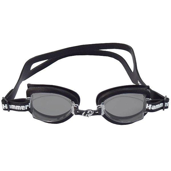 Óculos para Natação Fitness - Preto com Lentes Fumê - Hammerhead