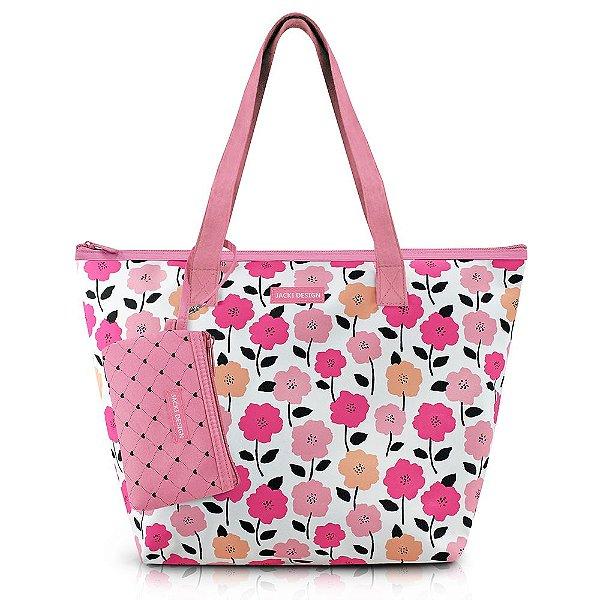 Bolsa com Niqueleira -  Pink Love - Rosa - Jacki Design