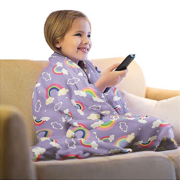Manta Super Soft Infantil Arco Íris - Lepper