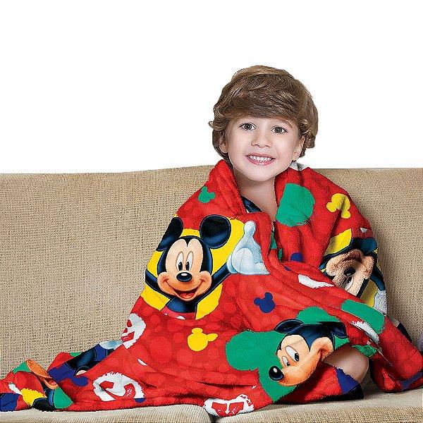 Manta Fleece Infantil - Mickey - Lepper