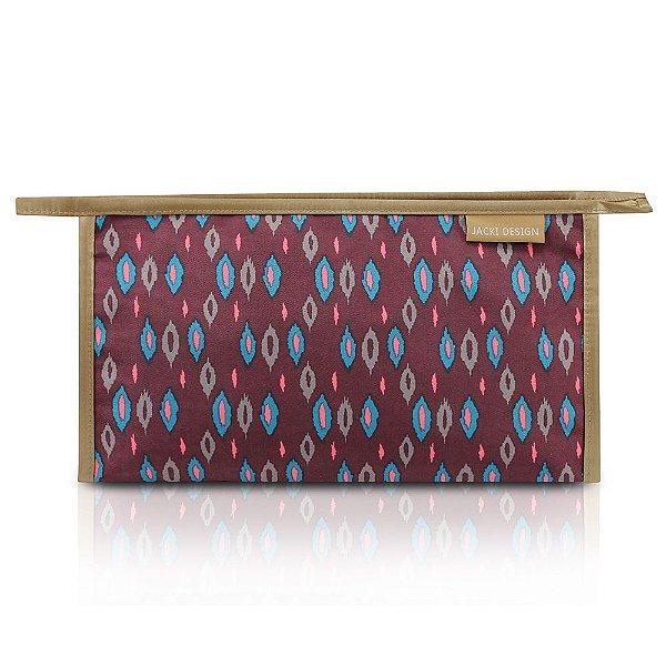 Necessaire Envelope Estamapada - City - Vinho - Jacki Design