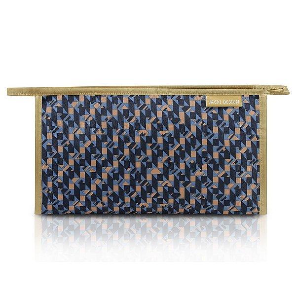Necessaire Envelope Estampada - City - Azul - Jacki Design
