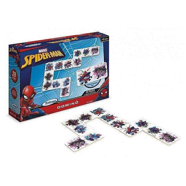 Jogo de Dominó do Homem-Aranha - 28 peças - Xalingo