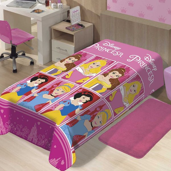 Manta Infantil Microfibra - Princesas - Jolitex Termille