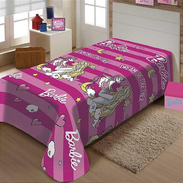 Manta Infantil Microfibra - Barbie - Jolitex Termille