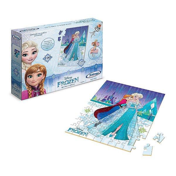 Quebra-Cabeça Frozen Disney - 100 peças - Xalingo