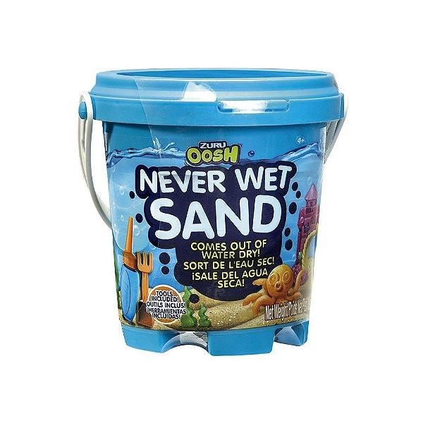 Areia Mágica - Never Wet Sand - Azul Neon - Barão Toys