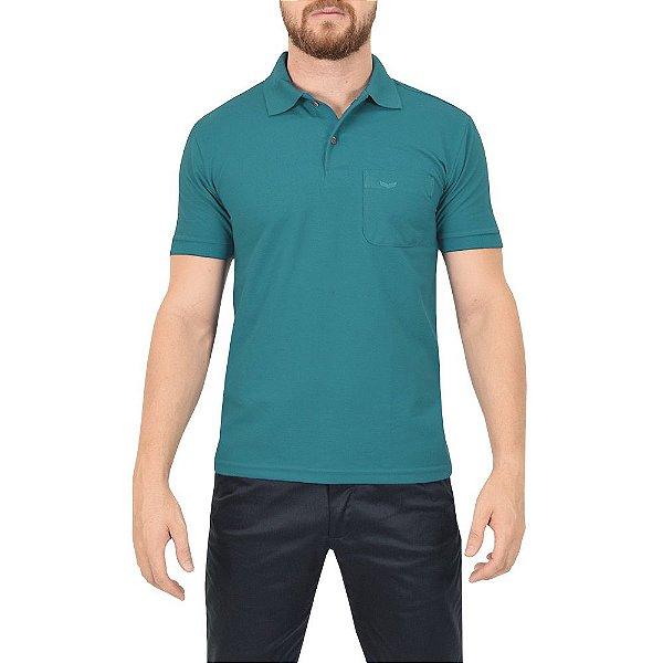 Camisa Polo Masculina - Azul Petróleo - Wayna