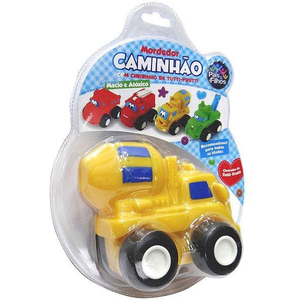Mordedor Caminhão de Cimento - Amarelo - Pais e Filhos