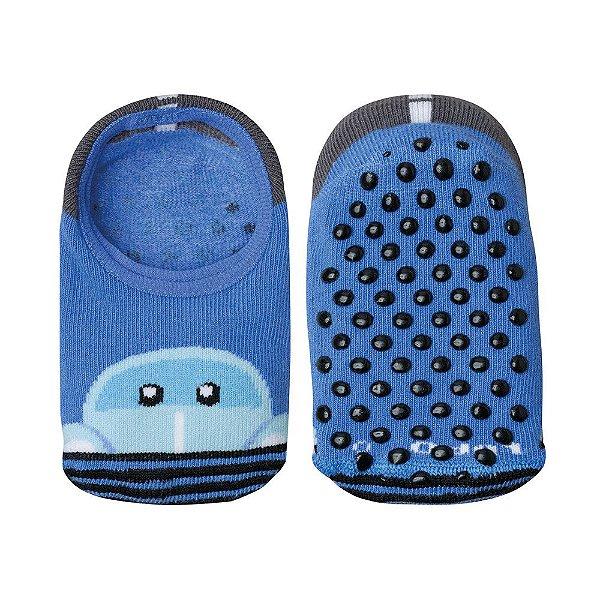 Meia Baby Antiderrapante Fusquinha - Azul - Lupo