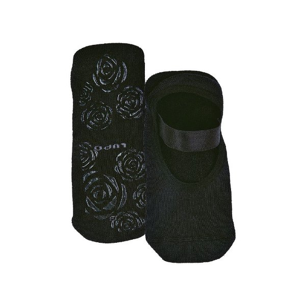Meia Sapatilha de Pilates Antiderrapante - Preto 9990 - Lupo
