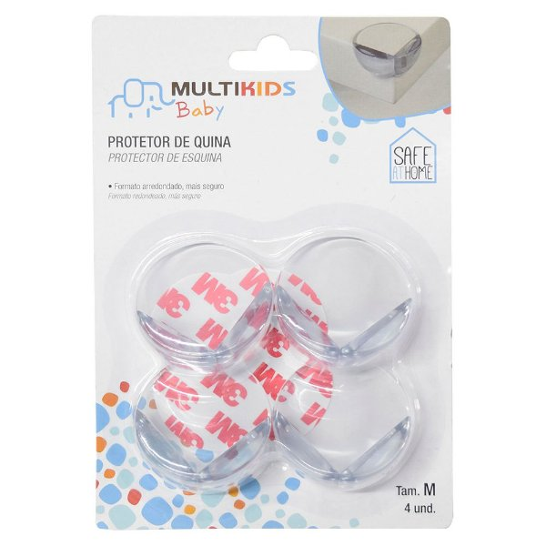 Protetor de Quina Médio - 4 peças - Multikids