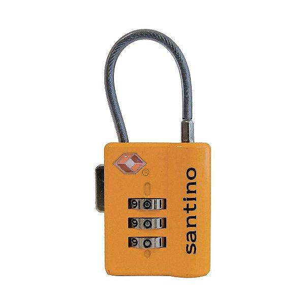 Cadeado com Segredo TSA Lock - Laranja - Santino