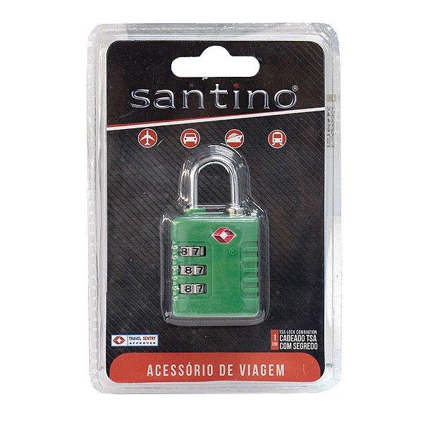 Cadeado TSA em ABS - Verde Bandeira- Santino