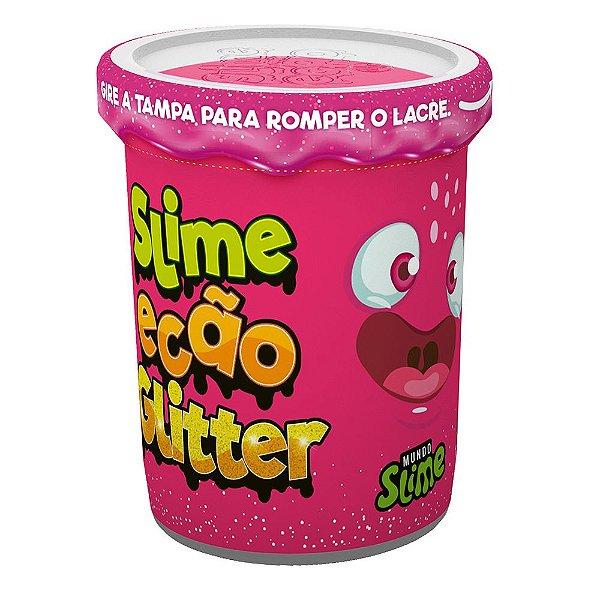 Slime Ecão Glitter - 100g - Rosa Neon - DTC