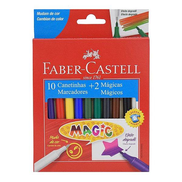 Canetinhas Magic - 12 Cores - Faber Castell