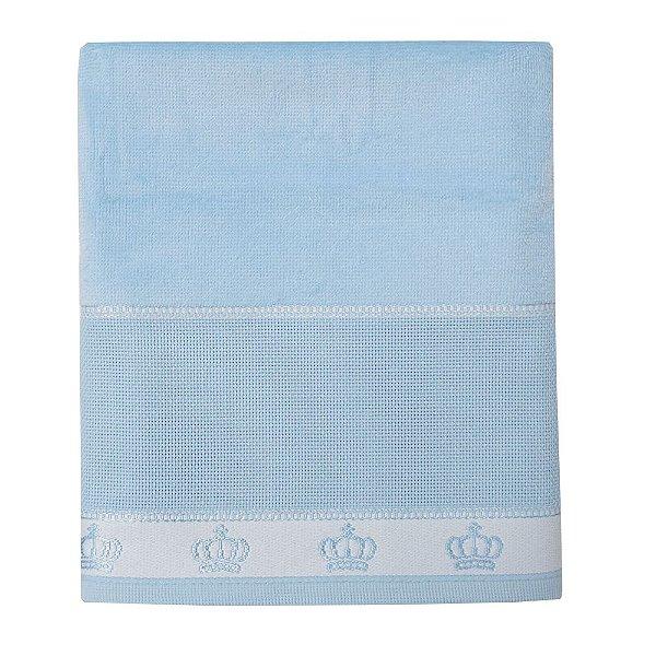 Toalha de Banho Velour Baby Classic para Bordar - Azul Claro - Döhler