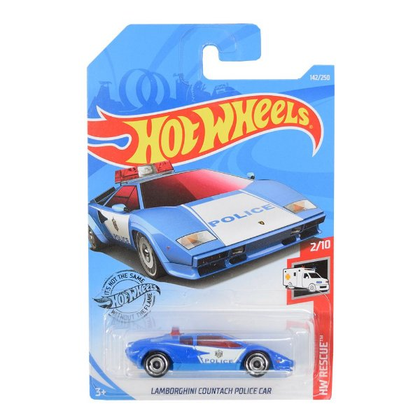 Carrinhos Hot Wheels - Lamborguini Countach Police Car - Mattel