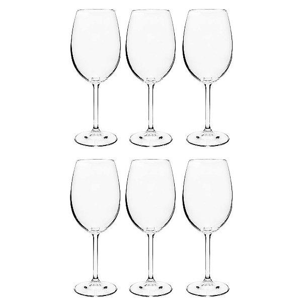 Jogo de Taças para Vinho - 6 Peças - Crystalite Bohemia