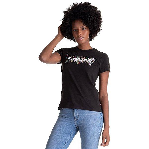 Camiseta Feminina Originals Flores - Preto - Levi's