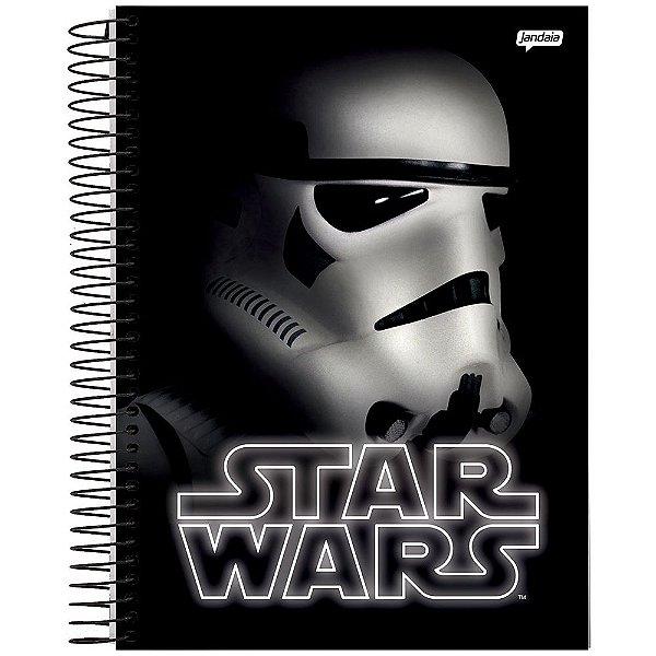 Caderno Star Wars - Stormtrooper - Preto - 1 Matéria - Jandaia
