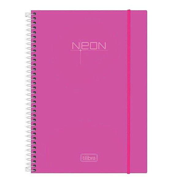 Caderno Neon - Pink - 10 Matérias - Tilibra