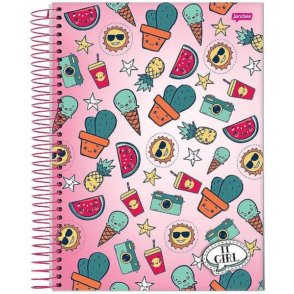 Caderno It Girl - 12 Matéria - Cactos - Jandaia