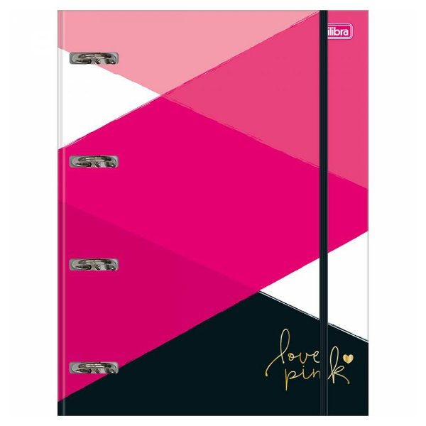 Caderno Argolado - Love Pink - 80 Folhas - Tilibra