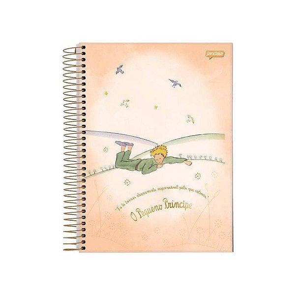 Caderno 1/4 - O Pequeno Príncipe - Laranja Claro - 96 folhas