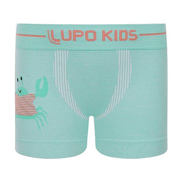 Cueca Boxer sem Costura - Caranguejo - Lupo Kids
