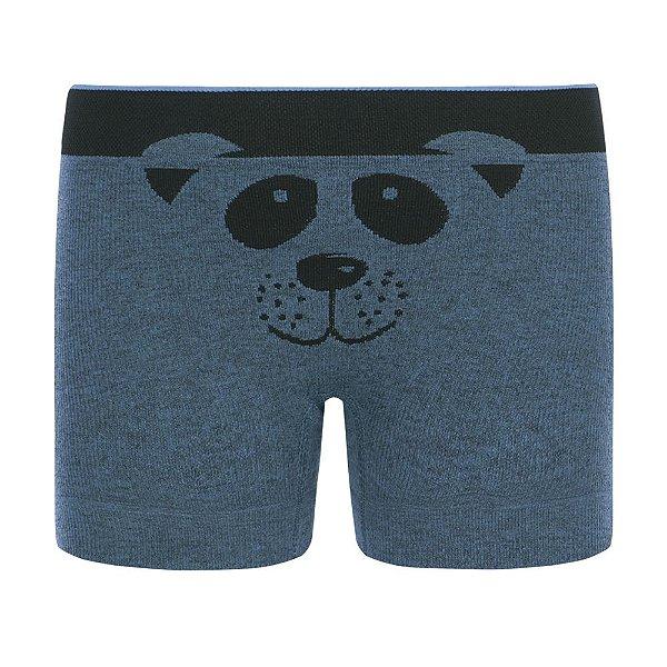Cueca Boxer sem Costura - Urso Azul - Lupo Kids