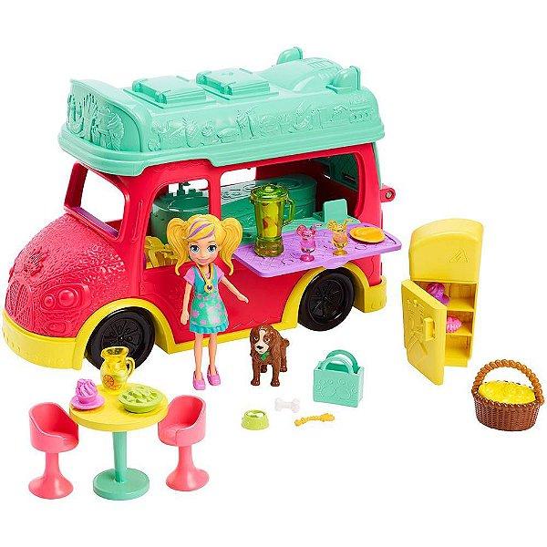 Polly Pocket - Smoothies Food Truck 2 em 1 - Mattel