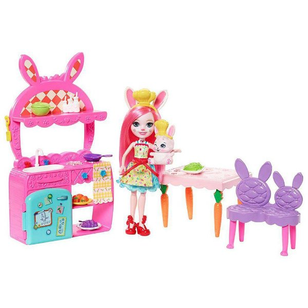 Enchantimals - Diversão na Cozinha - Bree Bunny e Twist - Mattel