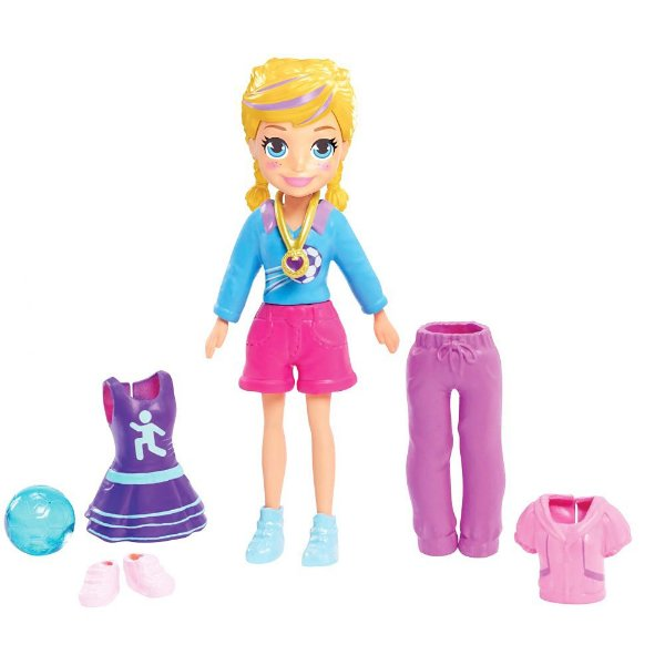 Polly Pocket Jogadora e Futebol - Mattel