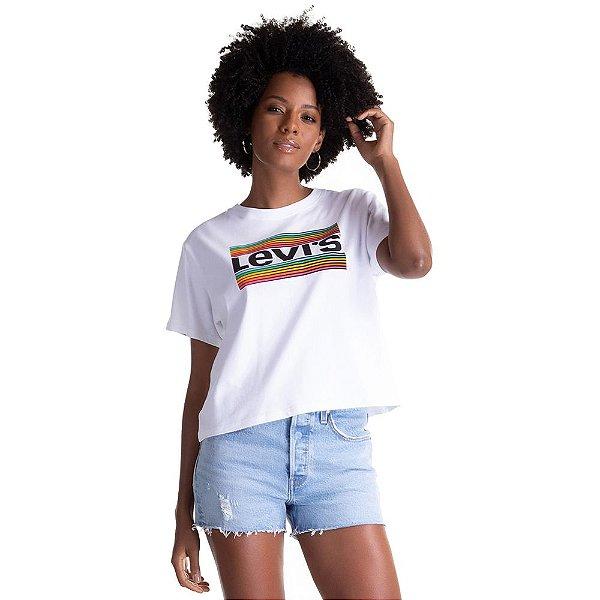 Camiseta Feminina Originals Arco-Íris - Branco - Levi's