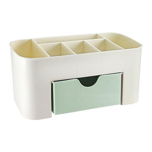 Organizador de Mesa Multifuncional com Gaveta - Verde - Jacki Design