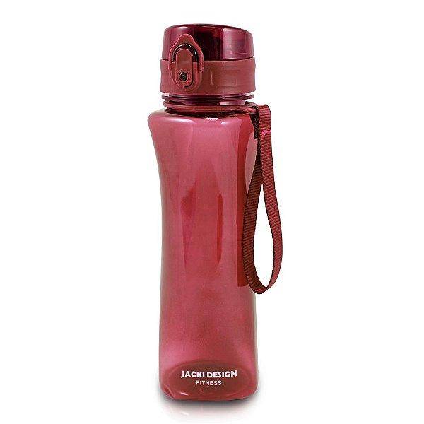 Garrafa Squezze Fitness 550 ml - Vinho - Jacki Design