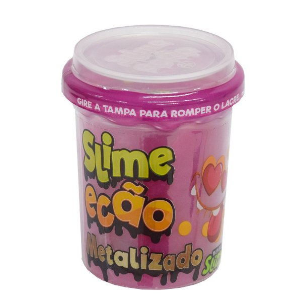 Slime Ecão Metalizado - 110g - Rosa - DTC