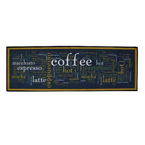 Passadeira de Cozinha 40cm x 1,18m - Palavras Coffee - Inter Home