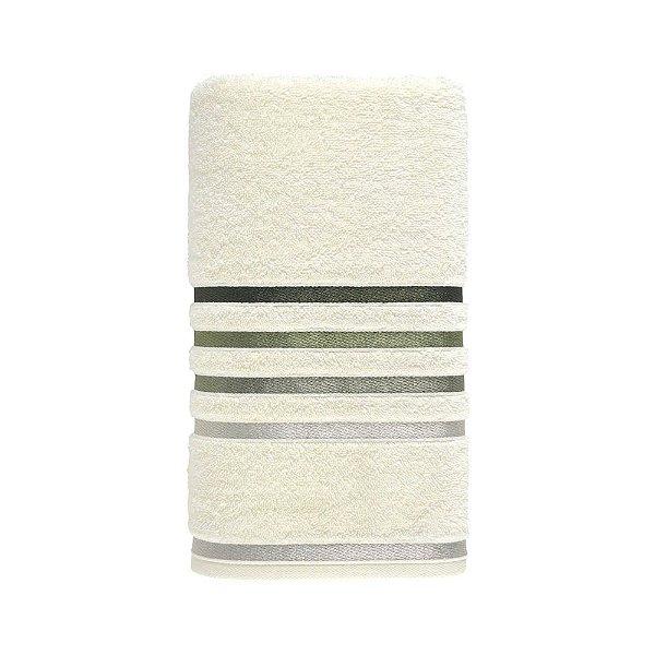 Toalha de Rosto Lumina - Branco e Verde - Karsten