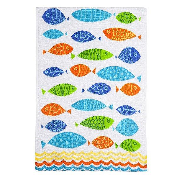 Pano de Copa Aveludado - Peixes Coloridos - Santista