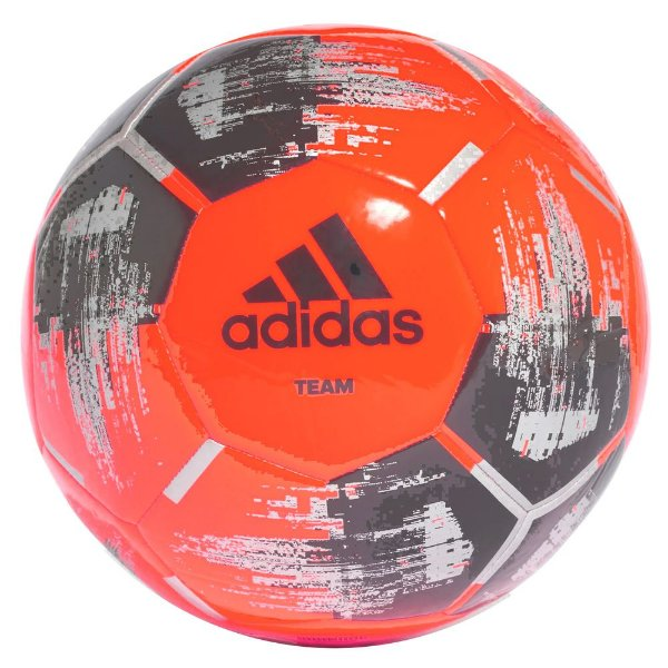 Bola de Futebol Team Capitano - Laranja Fluorescente - Adidas