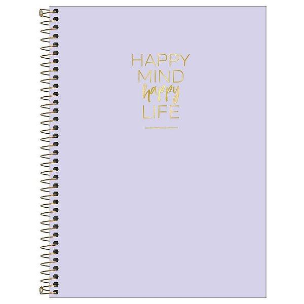 Caderno Happy Lilás - 80 Folhas - Tilibra