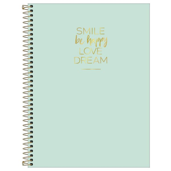 Caderno Happy Verde - 256 Folhas - Tilibra