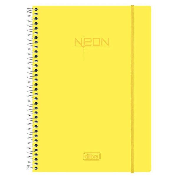 Caderno Neon Amarelo - 1 Matéria - Tilibra