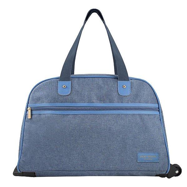Bolsa de Viagem com Rodas - Be You - Azul - Jacki Design