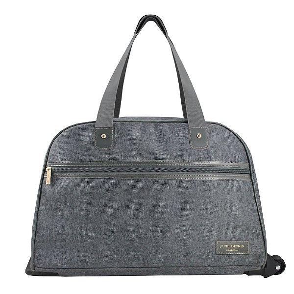 Bolsa de Viagem com Rodas - Be You - Cinza - Jacki Design